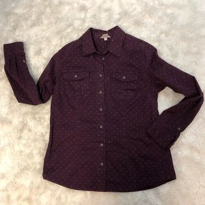 Duluth Trading Co Purple Button Down Shirt Large